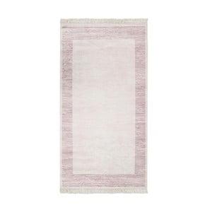 Růžový sametový koberec Deri Dijital, 160x230cm