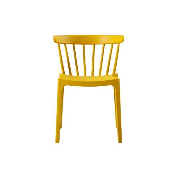 Žltá jedálenská stolička vhodná do interiéru aj exteriéru WOOOD Bliss