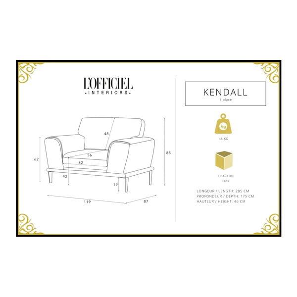 Fialové křeslo L'Officiel Interiors Kendall