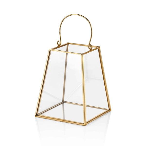 Glamour florárium aranyszínű részletekkel, 17 x 15 cm - The Mia
