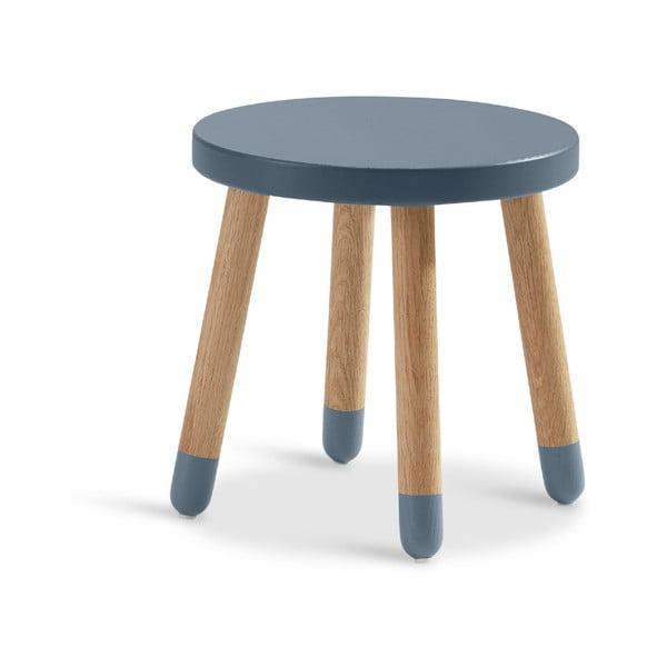 Niebieski stołek dziecięcy Flexa Play, ø 30 cm