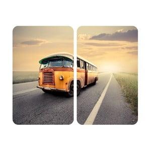 Skleněný kryt na sporák Bus, 2 ks