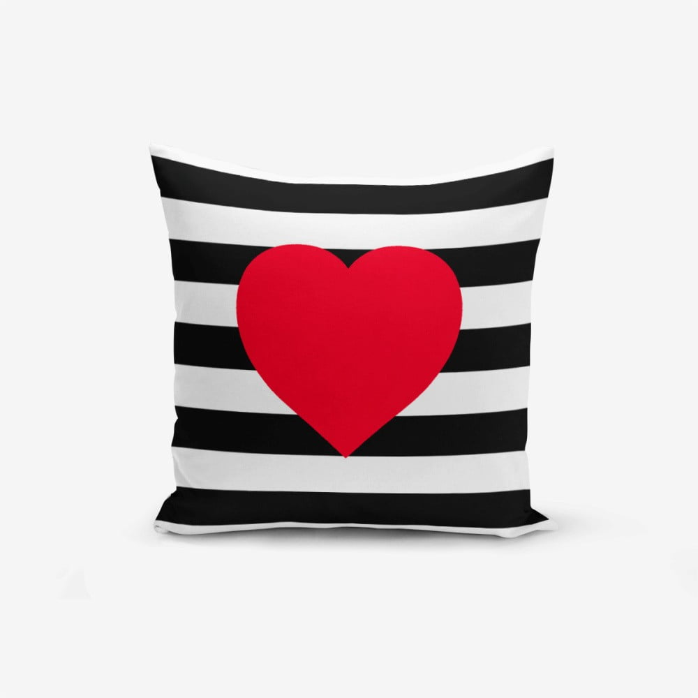 Produktové foto Povlak na polštář Minimalist Cushion Covers Navy Heart, 45x45cm