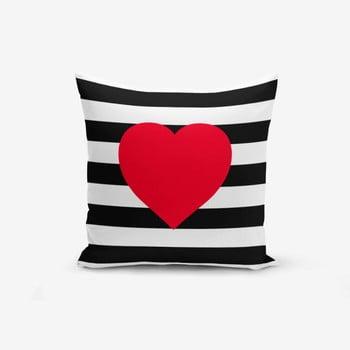 Față de pernă Minimalist Cushion Covers Navy Heart, 45x45cm de la Minimalist Cushion Covers