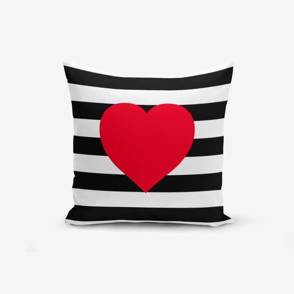 Față de pernă Minimalist Cushion Covers Navy Heart, 45 x 45 cm