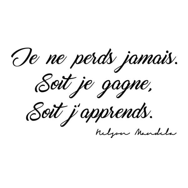 Samolepka s franouzským citátem Ambiance Je Ne Perds, 50 x 100 cm