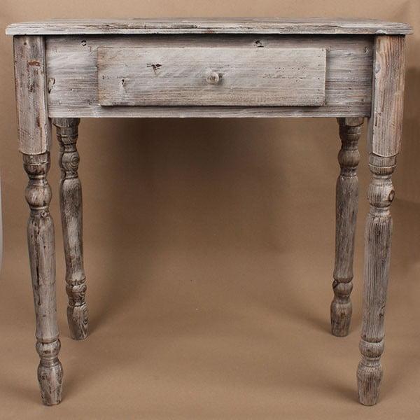 Dřevěný stůl se zásuvkou Grey Days, 74x78 cm