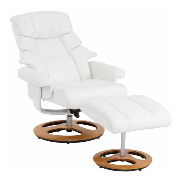 Tony fehér pihenő fotel lábtartóval - Støraa