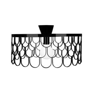 Černé stropní svítidlo GlobenLighting Gatsby, ø50cm