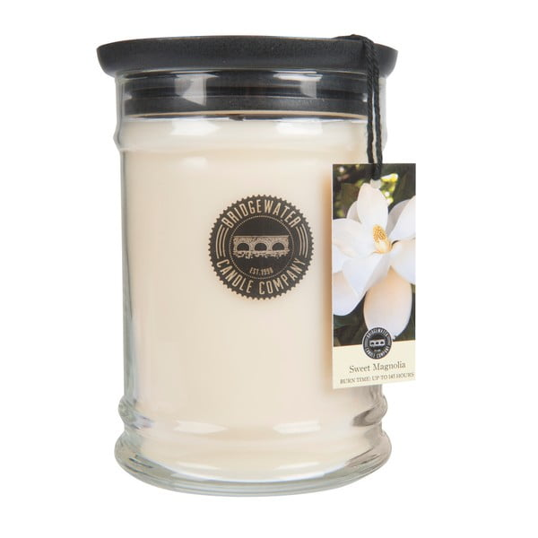 Svíčka s vůní ve skleněné dóze s vůní magnólie Bridgewater candle Company Sweet, doba hoření 140 - 160 hodin