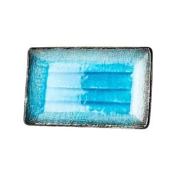 Farfurie servire din ceramică MIJ Sky, 21x13,5cm, albastru