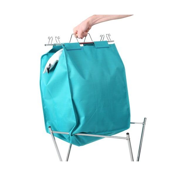Skládací koš na prádlo, modrý