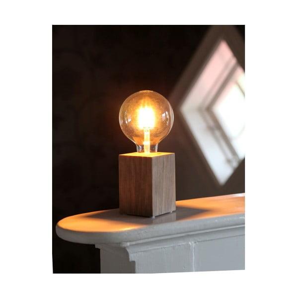 Hnědá dřevěná lampa Best Season Lys