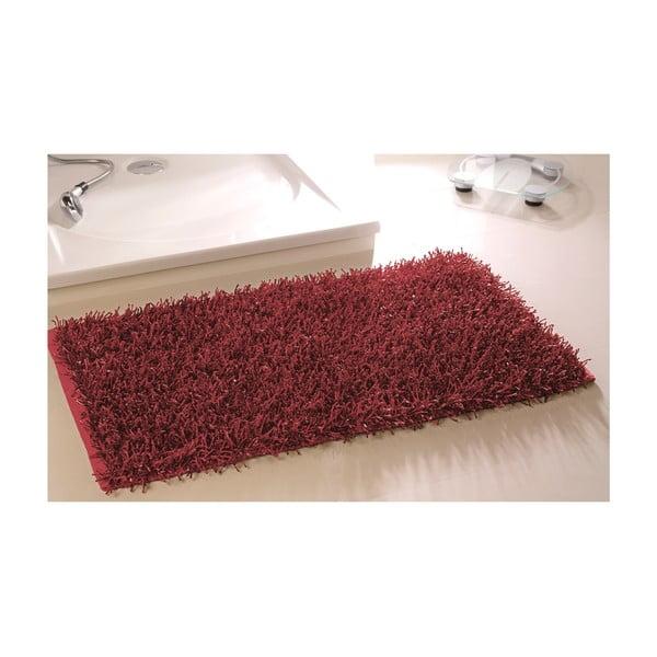 Koupelnová předložka Metallic Look Red, 60x100 cm