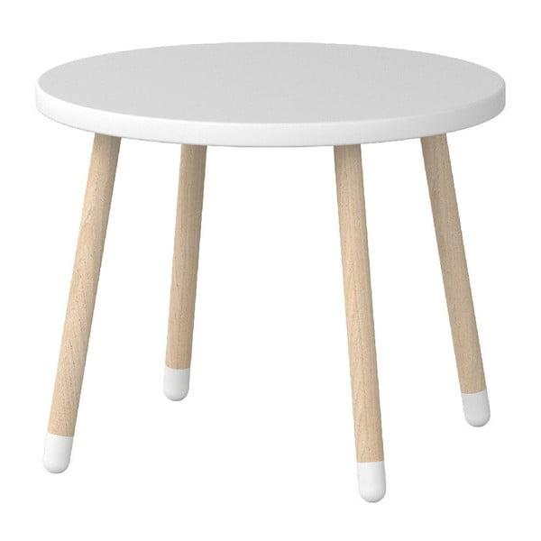 Biely detský stolík Flexa Play, ø 60 cm