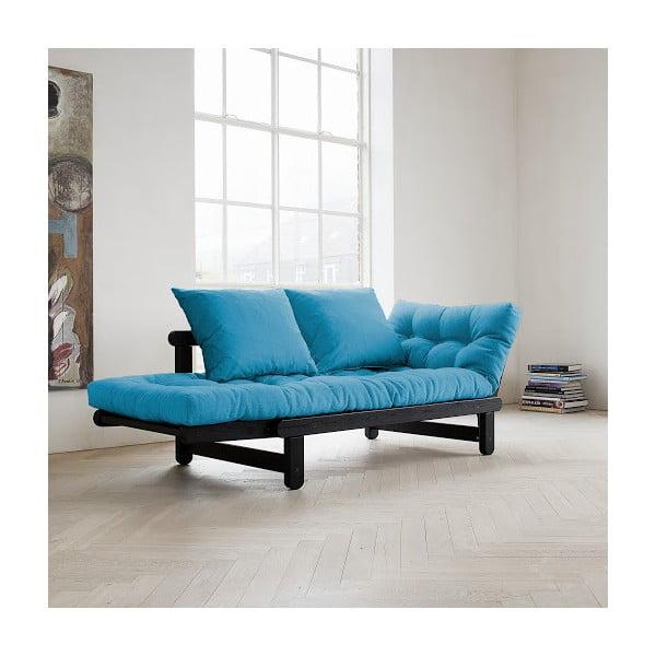Canapea extensibilă Karup Beat Black/Horizon Blue