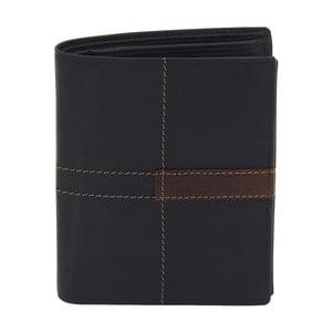 Černá kožená peněženka Friedrich Lederwaren Cross Stitch