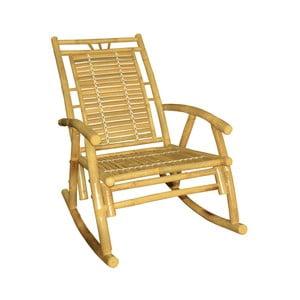 Žluté houpací křeslo z bambusu Leitmotiv