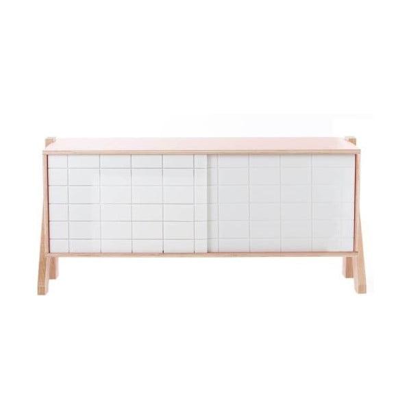Bílá komoda rform Frame, délka 115 cm