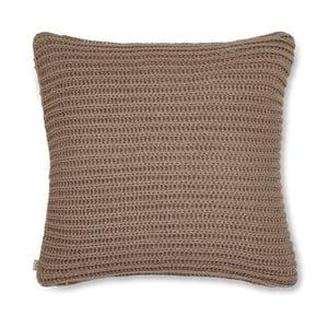 Hnědý pletený povlak na polštář Catherine Lansfield Knit, 45x45cm