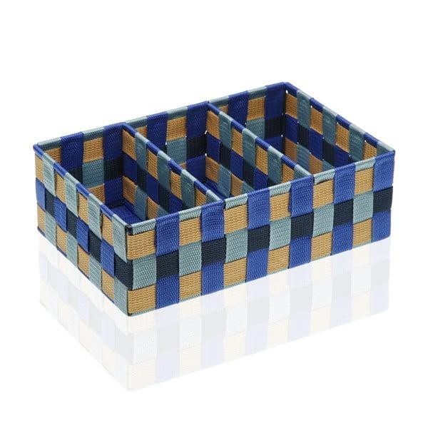 Koszyk z rozdzielnikiem na 3 części Versa Blue Bay