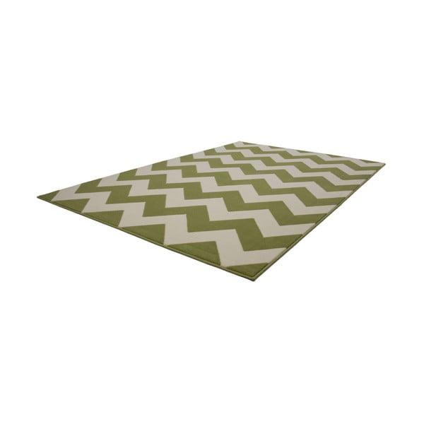 Zeleno-bílý koberec Kayoom Maroc 2085 Grun, 160x230cm