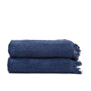Sada 2 modrých bavlněných ručníků Casa Di Bassi Face, 50x90cm