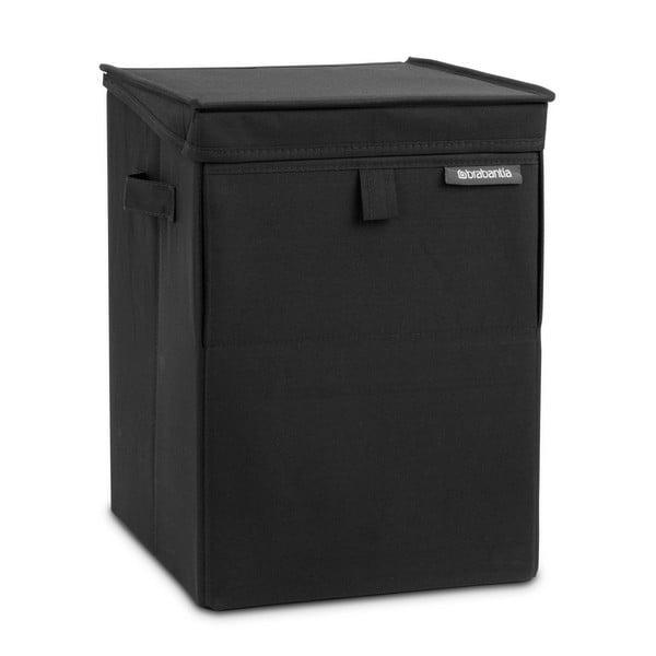 Černý stohovatelný box na prádlo Brabantia Hit Black, 35l