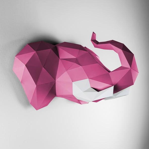 Papírová trofej Slon, růžovo-bílý