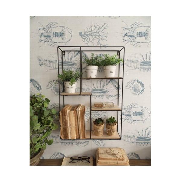 Nástenná drevená polička Orchidea Milano Support