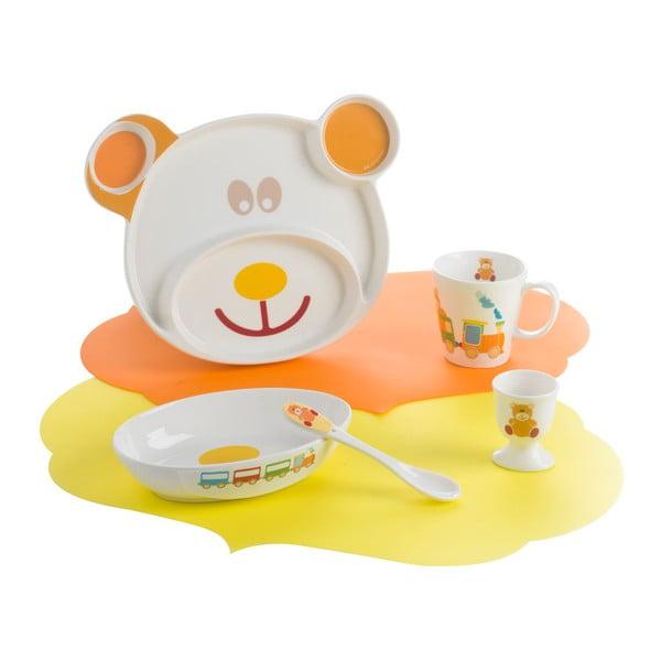 Porcelanowy komplet naczyń dla dziecka Brandani Bear, 5 części
