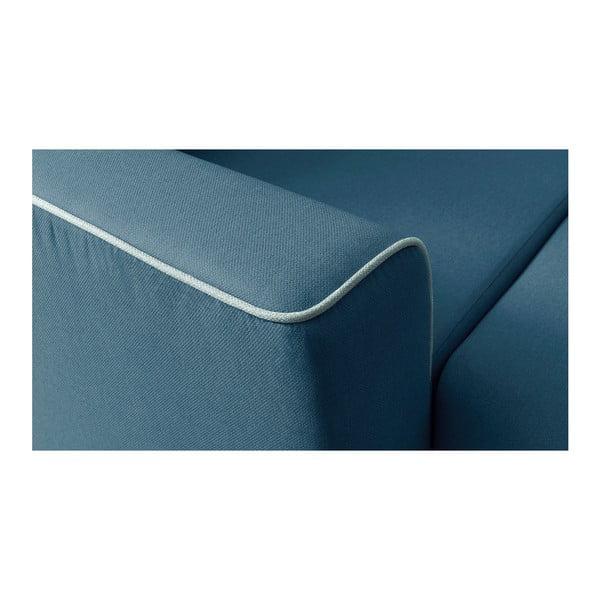Námořnicky modrá rozkládací pohovka Bobochic Paris Mola, levý roh