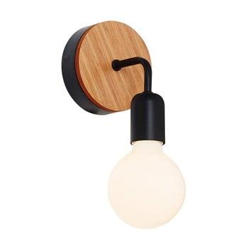 Aplică cu detalii din lemn Homemania Valetta, negru de la Homemania
