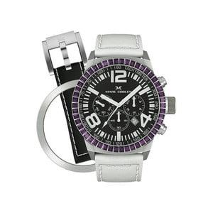 Dámské hodinky Marc Coblen s páskem a kroužkem navíc P17