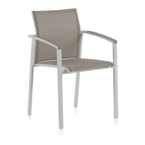 Sada 2 bílých zahradních židlí se zeleným sedákem Geese Lour