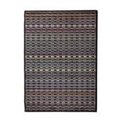 Šedý vysoce odolný koberec Floorita Optical Duro, 80 x 150 cm