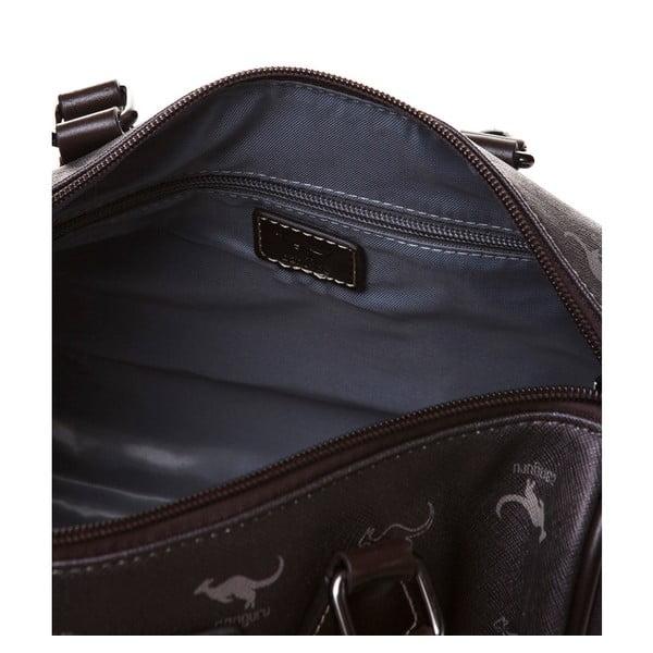 Kožená kabelka do ruky Canguru Kangaroo, hnědá