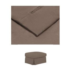 Hnědý povlak na podnožku THE CLASSIC LIVING Jean