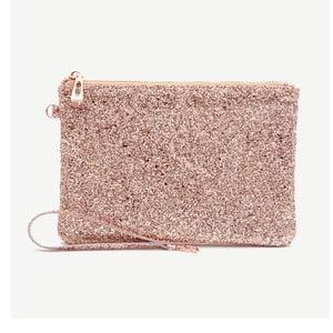 Růžová kosmetická taštička GO Stationery All That Glitters Sequin