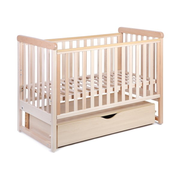 Dziecięce łóżko bujane z drewna bukowego YappyKids Move, 60x120cm