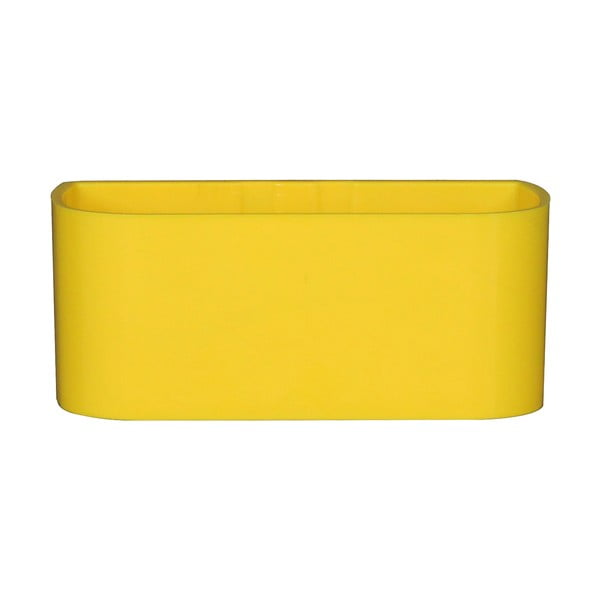 Magnetický květináč Truhlík 13x6x7 cm, žlutý