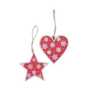 f35b4af5621 Sada 2 červených závěsných dekorací Ego Dekor Christmas