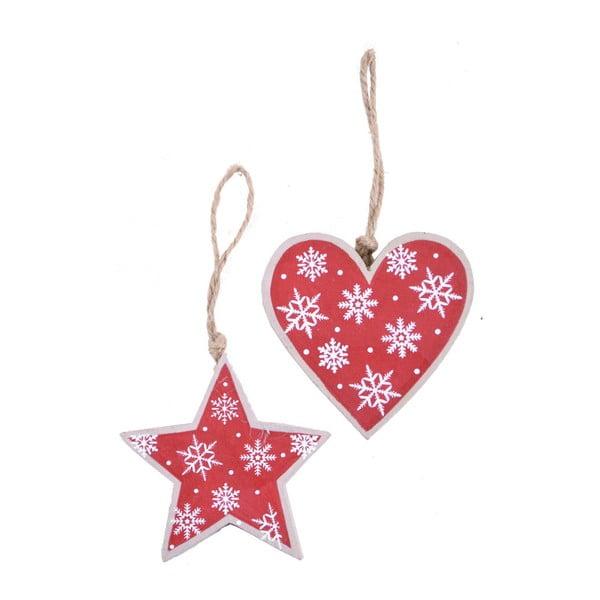Zestaw 2 czerwonych dekoracji wiszących Ego Dekor Christmas