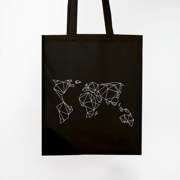 Plátěná taška Geometrische Erde Black