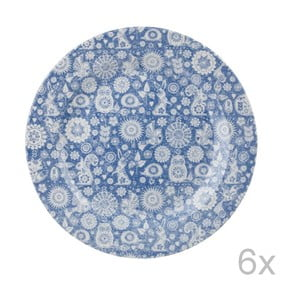 Sada 6 talířů Churchill Penzance Dark, 26 cm