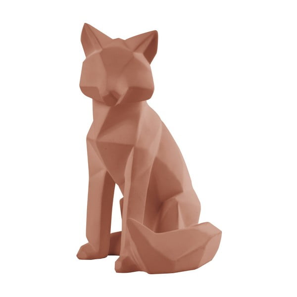 Matně hnědá soška PT LIVING Origami Fox, výška26cm