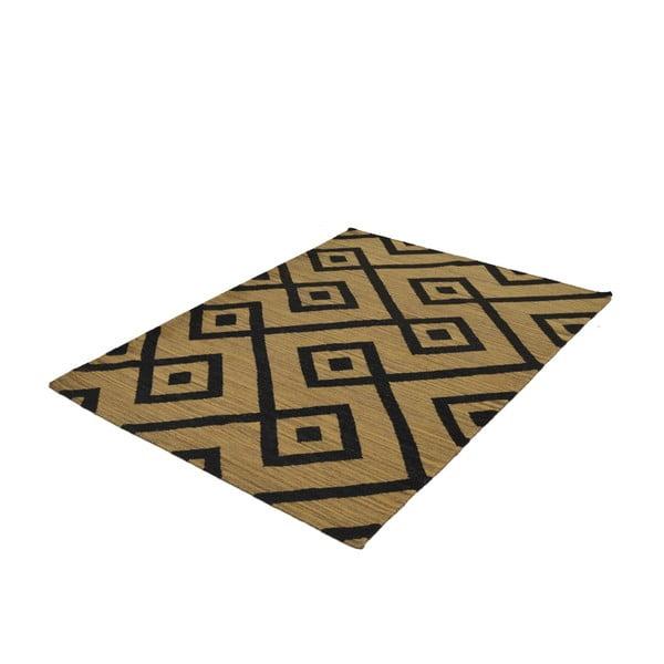 Ručně tkaný koberec Black Geometry, 140x200 cm
