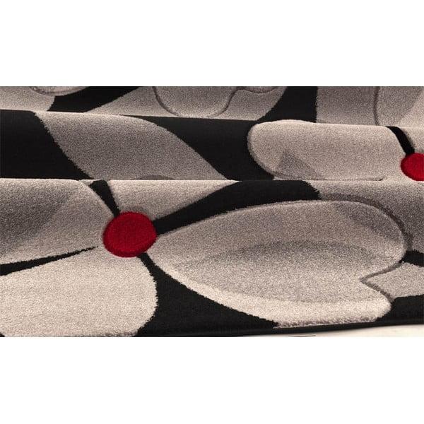 Koberec Intarsio Floral Grey, 140x200 cm
