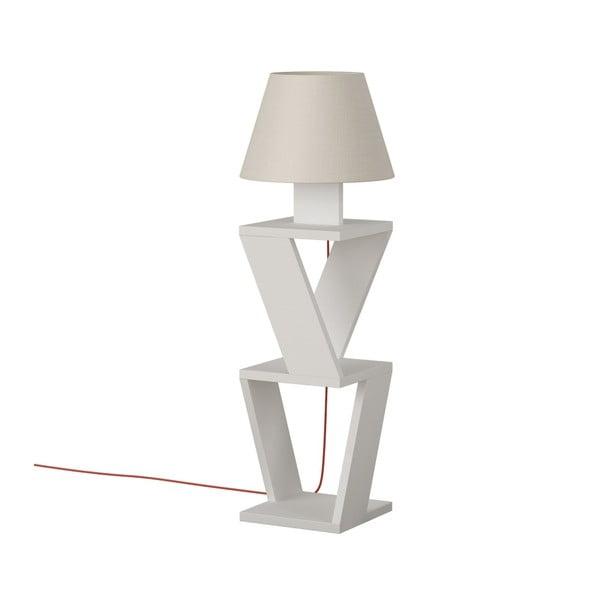 Biała wolno stojąca lampa Kozena White