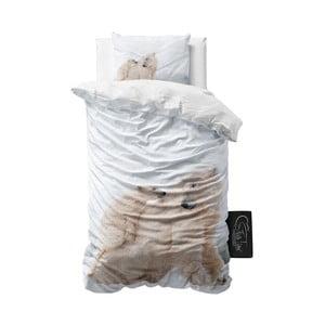 Lenjerie de pat din micropercal Sleeptime Icebears, 140 x 220 cm